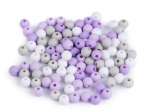 Matte Plastic Beads Ø6 mm