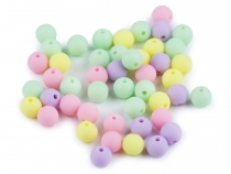 Matte Plastic Beads Ø8 mm