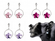 Dangle Earrings with Swarovski Elements Flower