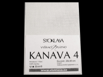 Cross Stitch Canvas KANAVA 4 white 20x30 cm