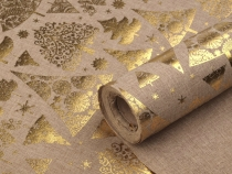 Decorative Fabric with Christmas Motifs width 48 cm