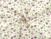 Cotton Fabric with Flower Printing width 140 cm