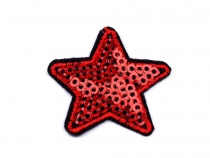 Iron on Patch Star with sequins