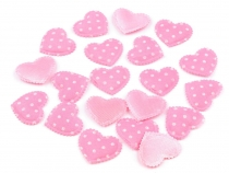 Heart Decoration 17x20 mm with polka dots