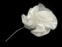 Satin Flower Ø60 mm on wire
