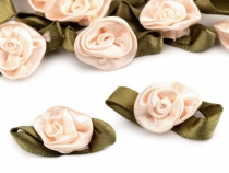 Satin Rose with Petals 15x30 mm