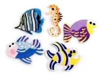 Embroidered Iron on Patches Fish