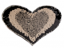 Iron on Patch Heart with Reversible Sequins - Heart