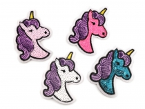 Iron on Patch with Sequins Unicorn