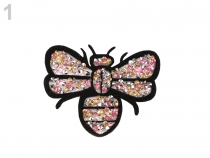 Iron-on Patch Bee with Rhinestones