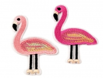 Iron-on Patch Flamingo with Sequins
