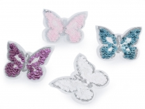 Iron-on Patch Butterfly with Sequins