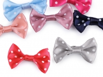 Satin Bow with Polka Dots 20x40 mm
