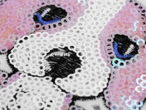 Iron on Patch Dog with Sequins