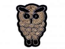 Iron on Patch Owl with Sequins