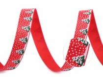 Christmas Grosgrain Ribbon width 10 mm Trees