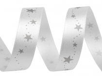 Christmas Double Faced Satin Ribbon Stars width 15 mm