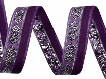 Velvet Ribbon width 10 mm with Lurex