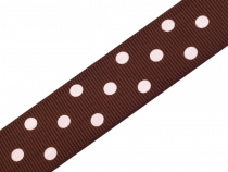 Grosgrain Ribbon width 24 mm with Polka Dots