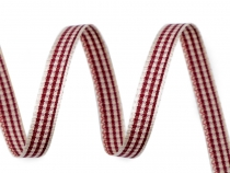 Checkered / Plaid Ribbon width 6 mm