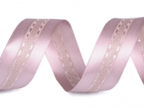 Satin Ribbon with Lurex width 25 mm