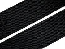 Woven Elastic Tape, width 25mm  black CZECH MADE