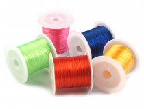Flat Elastic Bead Jewelry Cord 1 mm