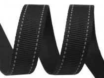 Polypropylene Webbing width 25 mm with reflective stitching
