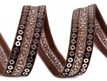 Sequin Trim width 15 mm on Velvet Ribbon