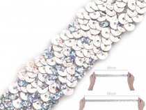 Sequin Trim Braid Hologram width 30 mm