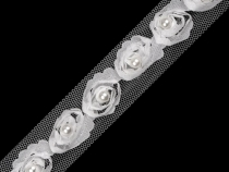 Tulle Rose Trim width 20 mm with Bead