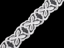 Embroidered Organza Ribbon Trim width 28 mm