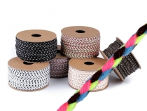 Braided Cotton Cord / String / Twine Ø2 mm Multicolour
