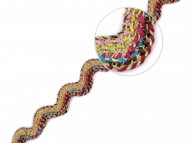 clothing Braid / Ric Rac Ribbon with Lurex width 13 mm