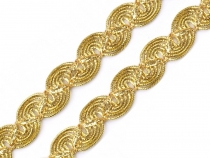 Metallic Scroll Trim gold / silver