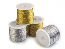 Round Metallic Hollow Cord  Ø1 mm