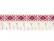 Bohemian Boho / Native Indian Trim with Fringe width 20 mm 2nd quality