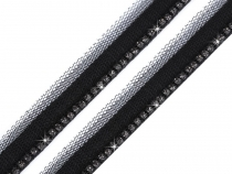 Clothing Braid / Insertion Piping with Rhinestones width 17 mm