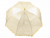 Kids Transparent Auto-open Umbrella with Frill