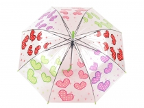 Girls Transparent Auto-open Umbrella