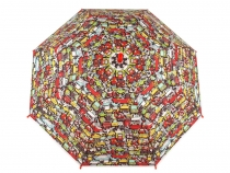 Kids Auto-open Umbrella with Whistle - Cars
