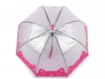 Girls Transparent Umbrella Cat