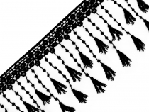 Guipure Lace Trim with Tassels width 12 mm