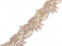 Golden Lace Trim with Lurex width 64 mm
