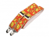 Children Trouser Bracers / Suspenders Y-back smiley, animals, cars