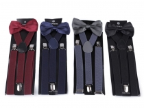 Mens Set Trouser Braces and Bow Tie