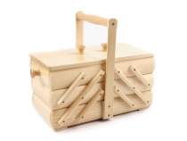 Small Wooden Sewing Basket