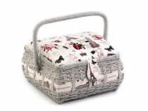 Basket for sewing kit padded