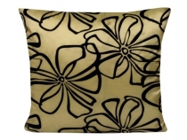 Cushion cover 43x43 cm  zippered satin with print FLOWER
