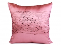 Cushion cover 43x43 cm  zippered satin with sequins